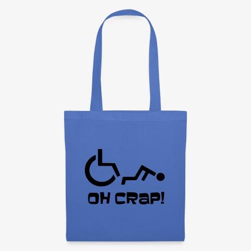 > Soms heb je pech en val je uit je rolstoel, crap - Tas van stof