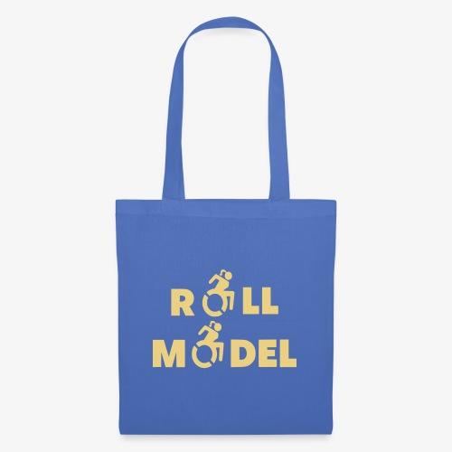 Dame in rolstoel is ook een roll model - Tas van stof
