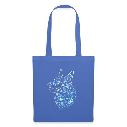 Flower Corgi Blue - Kangaskassi