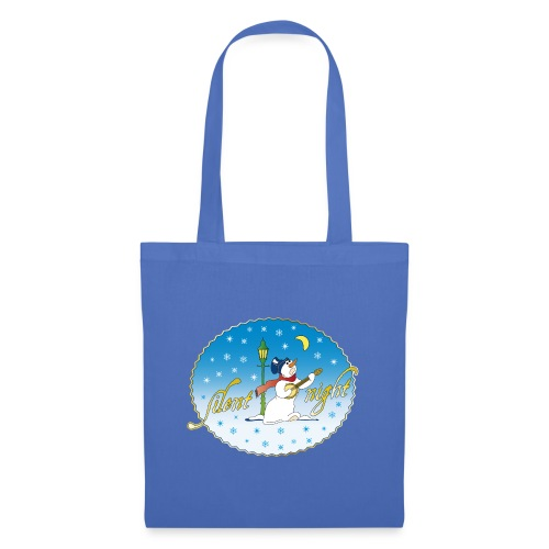 Silent Night Schneemann Mond Laterne xmas - Tote Bag