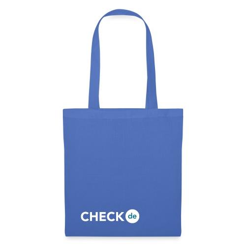 checkde Logo white png - Stoffbeutel