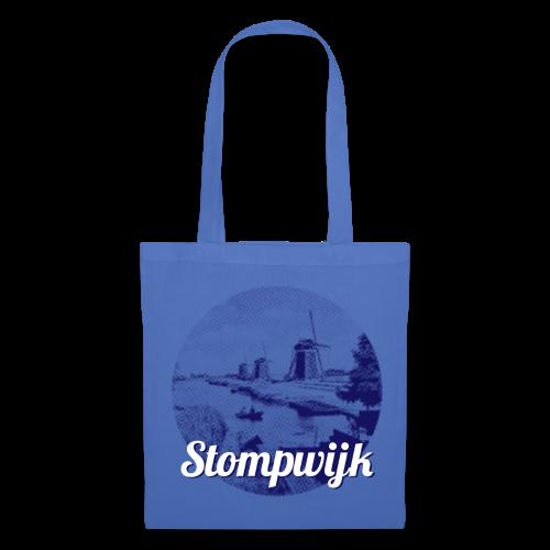 Stompwijk blauw - Tas van stof