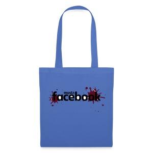 Musta Facebook -t-paita - Kangaskassi