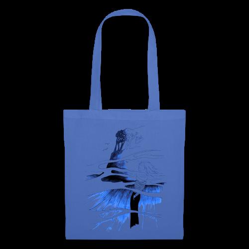 Ein Ort (blau) - Stoffbeutel