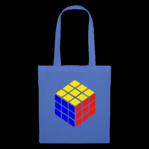blue yellow red rubik's cube print - Tas van stof