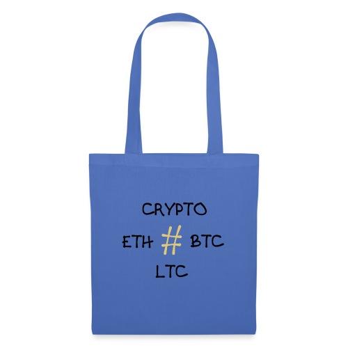 Kryptowährung, BTC, ETH, LTC - Stoffbeutel