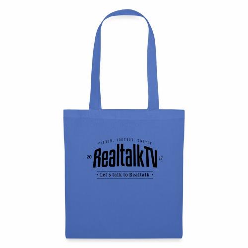 realtalk logo schwarz - Stoffbeutel