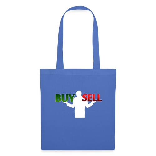 Buy Sell mit weißer Person - verschiedene Farben - Stoffbeutel
