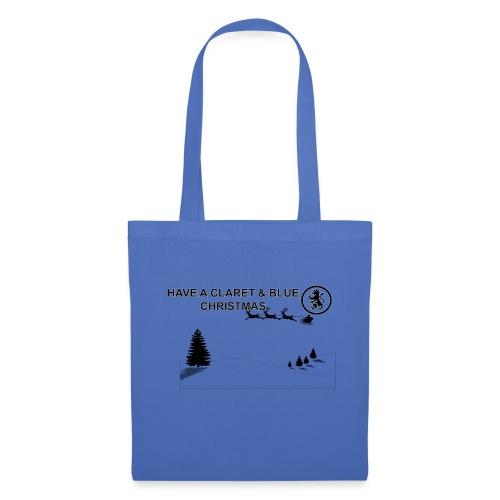 Claret and Blue Xmas - Tote Bag