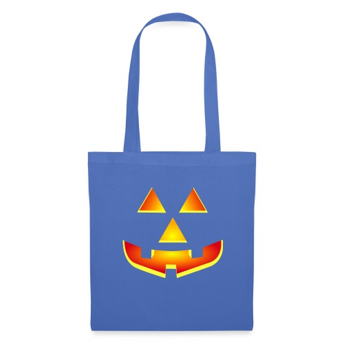 Smiling pumpkin - T Shirt, Halloween, Scary Face - Tote Bag