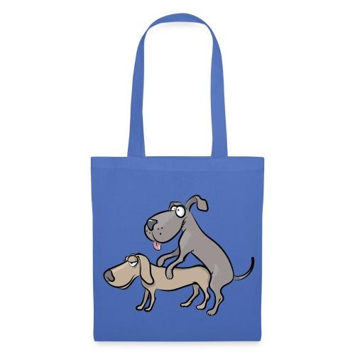 Un couple de chiens en train de faire l'amour - Tote Bag