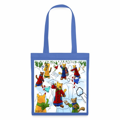 Christmas Snowball Cats 2 - Tote Bag