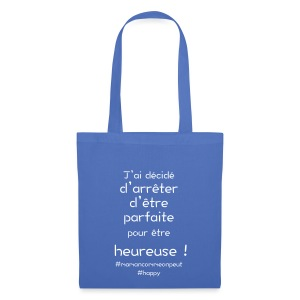 t-shirt_happy_white - Tote Bag