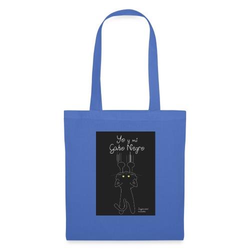 Camiseta gato Negro - Bolsa de tela
