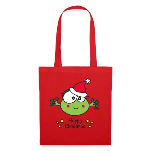 Grenouille F, Frog, Fêtes Nôel, Happy Christmas - Sac en tissu