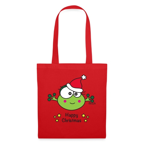 Grenouille F, Frog, Fêtes Nôel, Happy Christmas - Tote Bag