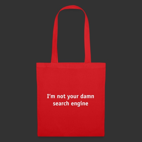 No search engine - Tygväska