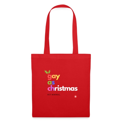 Gay as Christmas But Minimal - Tote Bag