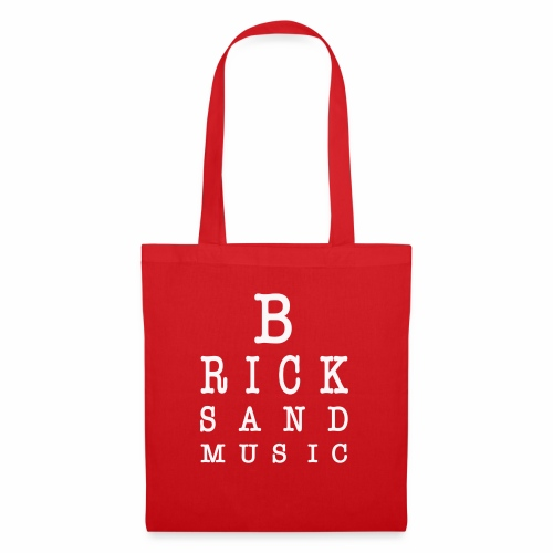 Bricks and Music lettere oculista - Borsa di stoffa