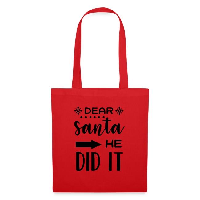 Dear Santa he did it