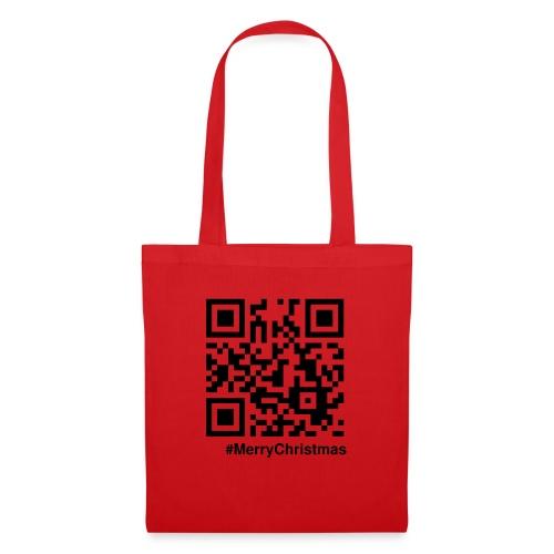 Merry Christmas Santa Claus HoHoHo QR-code - Tote Bag