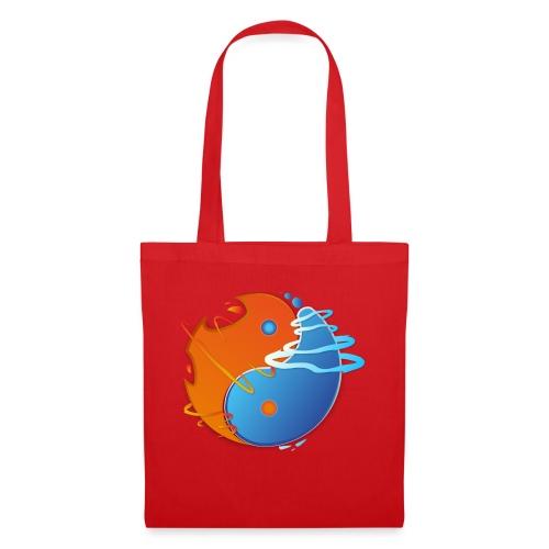 Ying-yang feu et glace - Tote Bag