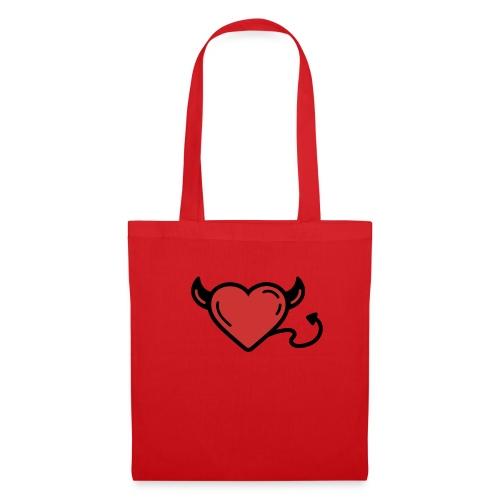 Printful heart devil - Sac en tissu