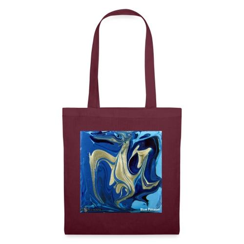 TIAN GREEN Welt Mosaik - AT042 Blue Passion - Stoffbeutel