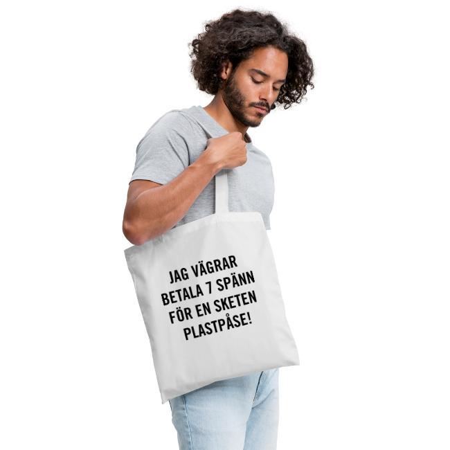 Jag vägrar betala 7 spänn för en sketen plastpåse