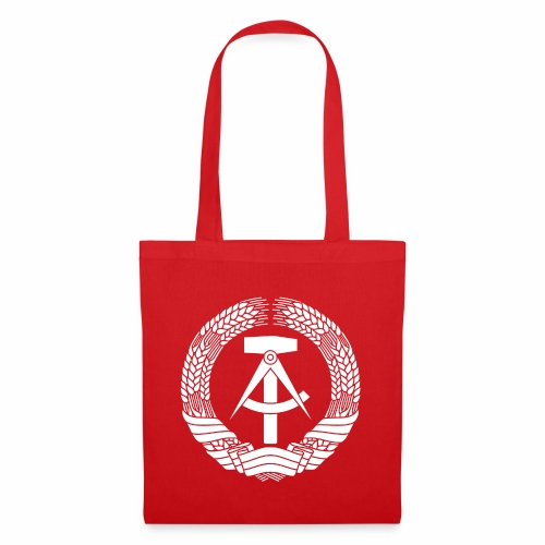 DDR Coat of Arms (white) - Tote Bag