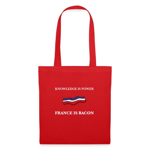 France is Bacon (Red) - Tote Bag