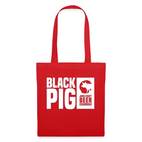 BlackPig Horizontal Blanc - Tote Bag