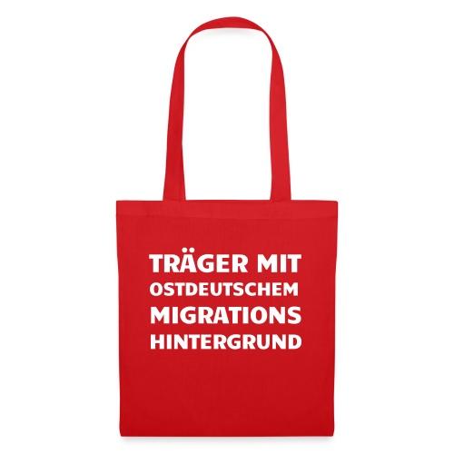 Träger mit ostdeutschem Migrationshintergrund - Stoffbeutel