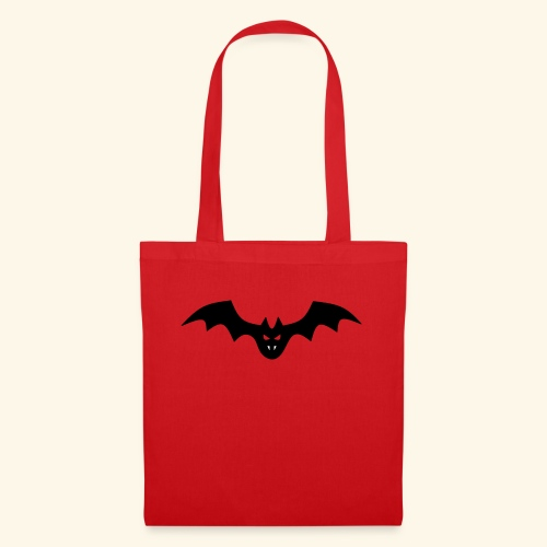 Spooky Bat with Fangs - Tote Bag