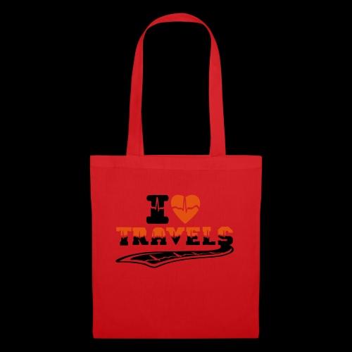 i love travels surprises 2 col - Tote Bag