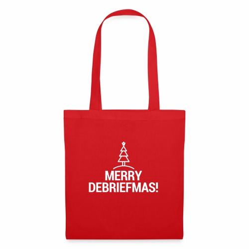 MERRY DEBRIEFMAS - WHITE - Borsa di stoffa