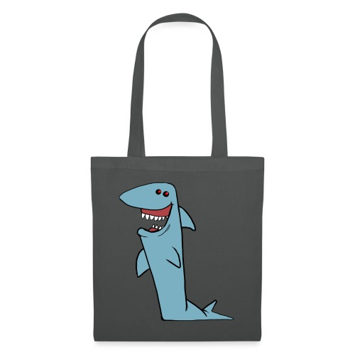 Dotspot di Shark Grin Cartoon - Borsa di stoffa
