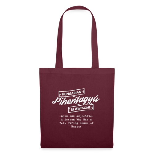 Pientagyu - Hungarian is Awesome (white fonts) - Tote Bag