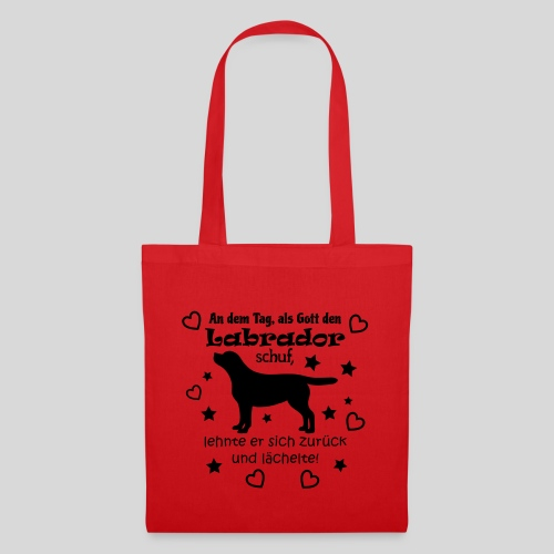 Gott schuf Labrador - Stoffbeutel