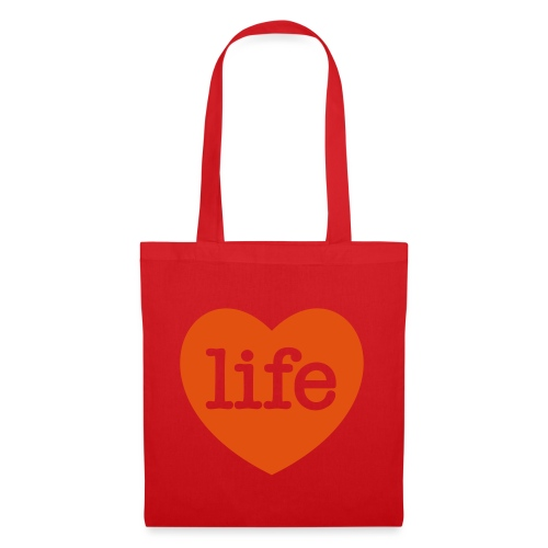 LOVE LIFE heart - Tote Bag
