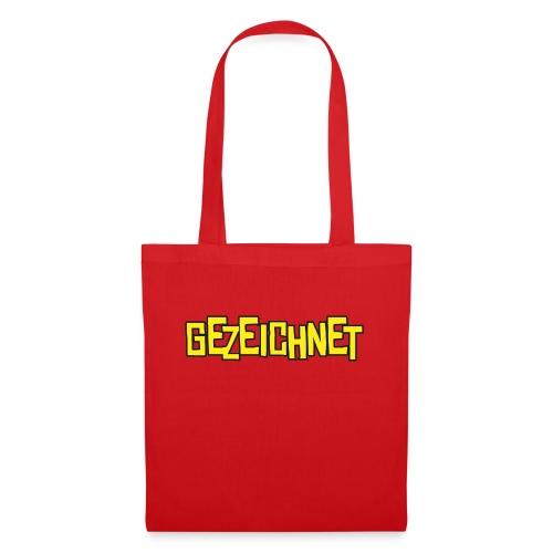 Gezeichnet Logo Gelb - Stoffbeutel