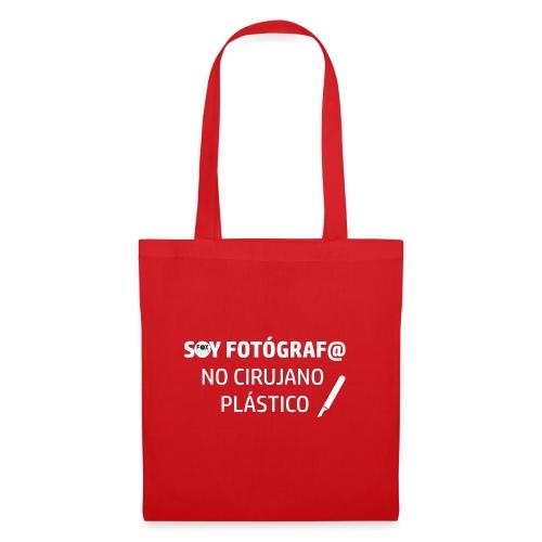 SOY FOTÓGRAFO NO CIRUJANO PLÁSTICO - Bolsa de tela