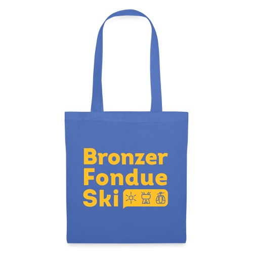 Bronzer, Fondue, Ski - Tote Bag