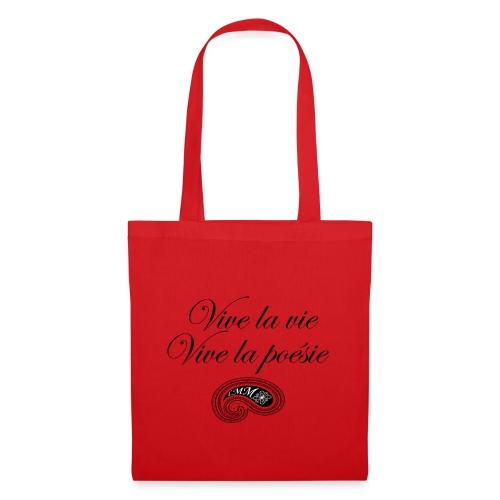 Vive la poésie black png - Tote Bag