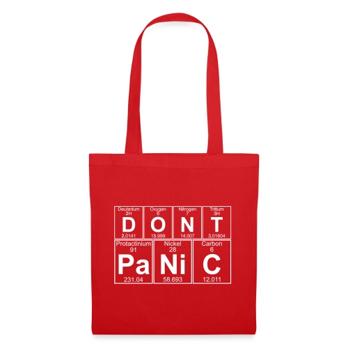 D-O-N-T Pa-Ni-C (don't Panic) - Tote Bag