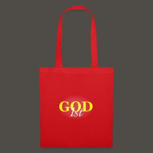 God 1 st V09 D191029FMi Schriftzug weis - Stoffbeutel