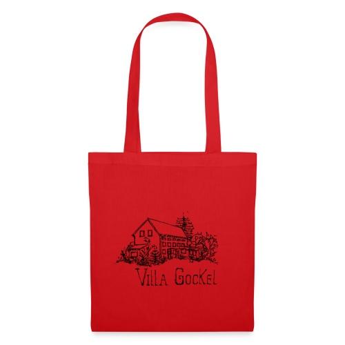 Villa Gockel schwarz - Stoffbeutel