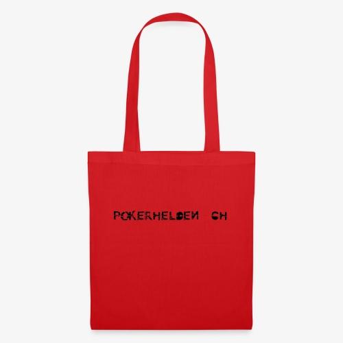 Pokerhelden Logo Schwarz - Stoffbeutel