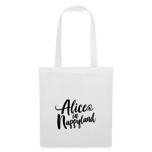 Alice in Nappyland Typography Black 1080 1 - Tote Bag
