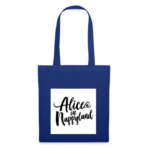 Alice in Nappyland Typography Black 1080 1 - Tote Bag
